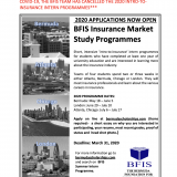 BFIS Intro-To-Insurance Intern Programmes has been Cancelled